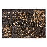 Relaxdays Fußmatte Kokos BRIEFMARKE 40 x 60 cm Kokosmatte mit rutschfestem PVC Boden Fußabtreter aus Kokosfaser als Schmutzfangmatte und Sauberlaufmatte Fußabstreifer für Außen und Innen Matte, braun