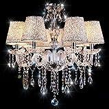 Chandelier , 6 Lights Crystal Ceiling Lamp
