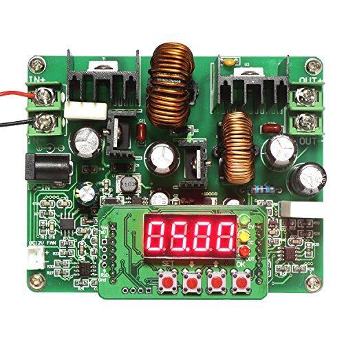 DROK® Controllo Numerico Buck Boost convertitore di tensione, DC 10-40 V 0-38V 6A Tensione costante costante Fase attuale Up Step Down trasformatore, variabile DC Power Supply con display LED