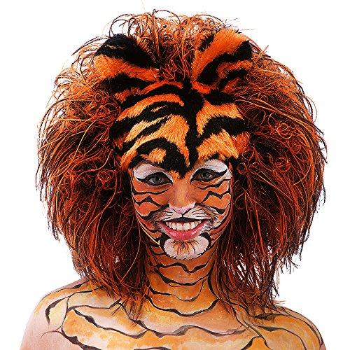 Imagen de carnival toys  peluca para disfraz de adulto tigre 2785