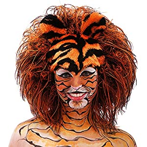 Carnival Toys - Peluca para Disfraz de Adulto Tigre (2785)