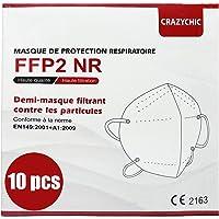 CRAZYCHIC - Atemschutzmaske FFP2 - CE Zertifiziert EN 149 Schutzmaske - Geprüft Staubschutzmaske - Mundschutzmaske…