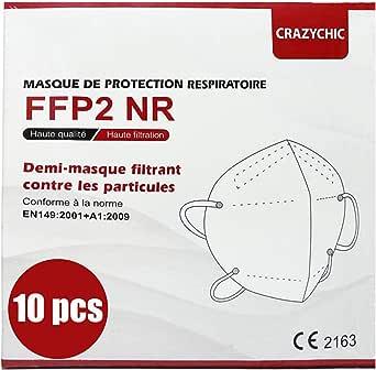 CRAZYCHIC - Atemschutzmaske FFP2 - CE Zertifiziert EN 149 Schutzmaske - Geprüft Staubschutzmaske - Mundschutzmaske - Hohe Filtration Maske