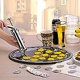 Superior 1Pc Cookie estrusore Pressa per Macchina Biscotto Maker Cake Making Decorazione Set / Kit Popolare Popolare Nuovo, Argento
