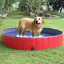 Hicustomer Piscina para Mascotas Plegable Inflable del PVC Piscina de baño para Perros L: 160
