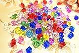 KESOTO Acryl Diamant Set, 50 Stück Glitzernde Diamanten Deko für Party Hochzeit, Bunt