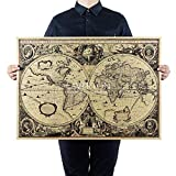 National Geographic Welt Ausstatter Vergrößerte Landkarte Referenzkarte (alte Seekarte Karte)
