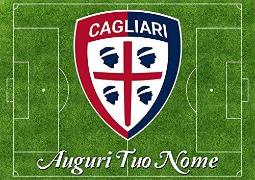 Cialda per Torta Campo da Calcio scudetto Cagliari - da personalizzare - campo004