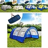 TecTake Tente Colonne d'eau de 3000 mm tunnel de camping famille 4-6