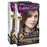 Eugène Color - Les Raffinées - N°78 Marron Praliné - Crème Colorante Permanente - Lot de 2