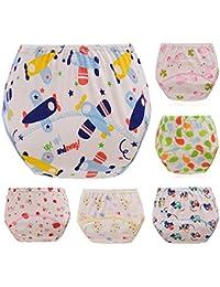 ElecMotive Pack de 6 Pantalones de Entrenamiento para Bebés Niños Niñas Bragas Estampadas de Aprendizaje Reutilizable