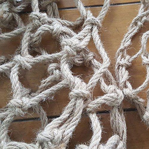 Roblue Jouet à Grimper Suspendu Balançoire Hamac Filet Corde d'escalade pour Oiseau Perroquet Ara Suspendu Avoir des Crochets 40 * 40CM