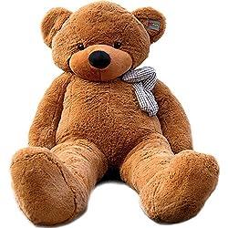 Joyfay Marca oso de peluche 100 - 200 cm gigante de la muñeca de juguete suave de la felpa de peluche oso de peluche de juguete oso peluche gigante peluches gigantes osos de peluche gigantes (200 cm, Marrón Oscuro)