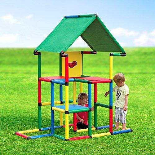Quadro | Junior | Klettergerüst für drinnen und draußen | Fördert entwicklung von Kindern | Beliebig modular & erweiterbar | 6 Jahre Garantie | Ab 1 bis 6 Jahren