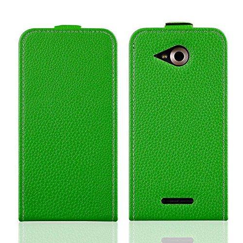 caseroxx Hülle/Tasche Flip Cover passend für Phicomm Clue M, Schutzhülle (Handytasche klappbar in grün)