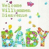 Lunchservietten Baby Willkommen (Baby)
