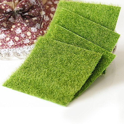 1PCS DIY Fairy prato erba artificiale per erba fata ornamento da giardino casa delle bambole Craft mini giardino Decotation, Come da immagine, 15x15cm