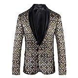 Männer 3D Plus Größe Anzug Jacken zurück Schnitt Britischen Stil Blumen Kette Design Slim Fit Anzug Jacken