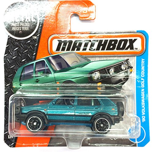 Matchbox - Sortiment 1:64 (DVN12 - 1990 Volkswagen Golf 2 Country grün metallic - 4/125 -