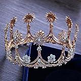 MDRW-Accessoires De Cheveux De Mariée En Épingle À Cheveux/Mariage/fête/femme l'atmosphère de la diadème la est en tête les étoiles l'eau de forage la diadème d'or la forme la photo les ornements pour...