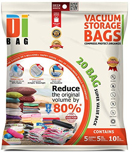 DIBAG--Space-Saver-Vacuum-Storage-Bags-20-Premium-Travel-Space-Bags-Bag-Size-Jumbo-Large-Medium-Double-Sealed-Compression-Plastic-Bags-For-Clothing-Storage-Clothes-Bedding-Packing