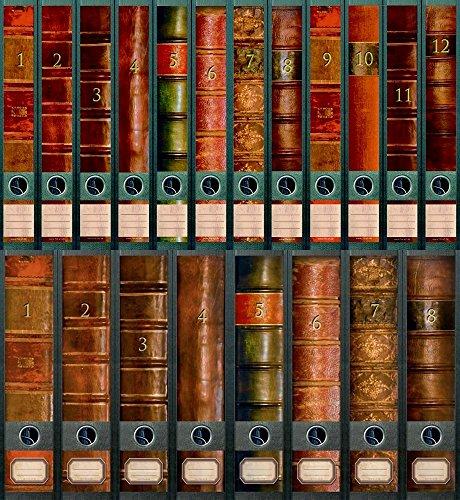 """'File Art–Archivadores Diseño Etiquetas–Diseño """"Folio para 8ancho + 12estrecho archivadores como Colección de a de m tienda de W"""