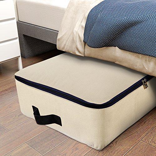 Lifewit 100L Stoff Unterbettkommode, Unterbett Aufbewahrungstasche für Bettzeug/ Kleidung/ Matratze/ Decken/ Kissen, Ultra Groß, Faltbar