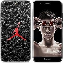 Huawei Honor V9 Case Cover, Aksuo [Antigraffio] [Anti-Scratch] TPU Gel Silicone Creative Custodia Trasparente Cristallo Chiaro Bumper Soft Morbido Ultra Slim Skin Protezione, Gioca a basket