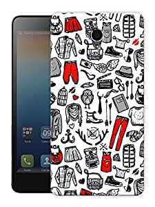 """Humor Gang Baby Clothes Pattern Printed Designer Mobile Back Cover For """"Lenovo S860"""" (3D, Matte Finish, Premium Quality, Protective Snap On Slim Hard Phone Case, Multi Color)"""