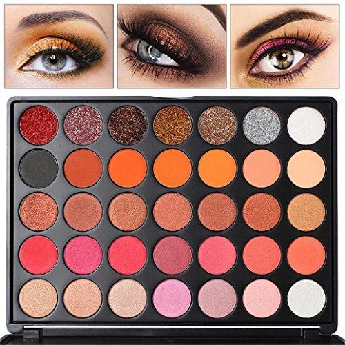 ❤ ❤ 35Farben Wasserfest nicht entfernen der Eyeshadow sisit das Lidschatten Palette Schönheit Make-up Matt Aussicht Geschenk Auge Schatten Kosmetik (Der Kosmetik Schönheit Erde)