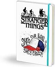 Stranger Things Beyaz Deri Defter