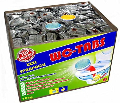 10 kg WC Tabs (ca.400 St. x 25g) mit 5-fach Kraft-Formel WC Reiniger WC Pulver