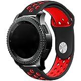 Elespoto 20mm Schnellwechsel-Uhrenarmband Silikon-Gummi-Armband für Samsung Classic Huawei 20mm Männer, Pebble Time Round 20mm, Bradley Timepiece