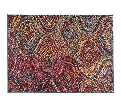 Alfombrista Moderna 5 Alfombra, Acrílico, Multicolor, 140 x 190 cm