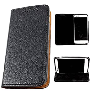DooDa PU Leather Flip Case Cover For Asus Zenfone 6 (Black)