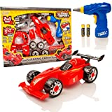 Take Apart® Construction Toy Kit - 2 in 1 F1 Toy Car Racing - Costruisci Il Tuo Kit per Auto - Luci e Suoni
