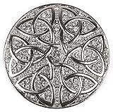 styleBREAKER ornamento magnetico rotondo con strass ornamento con nodo celtico per sciarpe, scialli o poncho, spilla, da donna 05050038, colore:Argento