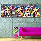 display08 Bunte Kühe Graffiti Leinwand Gemälde Wand Kunst Wohnzimmer Schlafzimmer Decor, 1#, Einheitsgröße