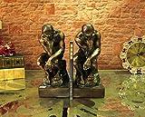 HFJ&YIE&H L'artisanat de résine de style classique américain livre de caractères de pensée créative étudier la décoration de salon 21 * 12 * 24cm