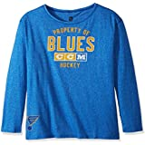 NHL St. Louis Blues Womens Ccm Team Property L/s Crew Teeccm Team Property L/s Crew Tee, Collegiate Royal Heathered, XX-Large