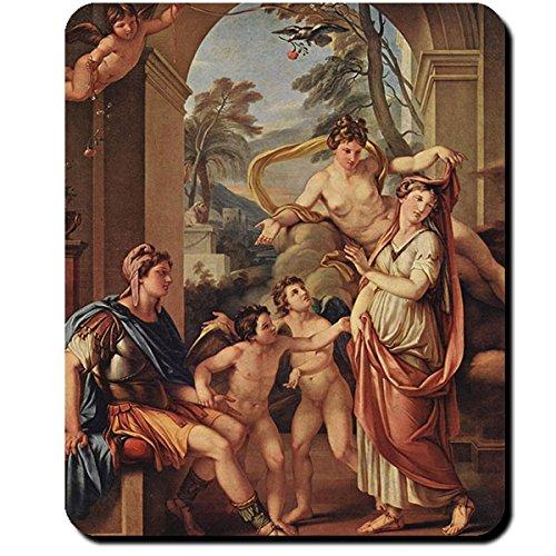 Aphrodite Paris Helena Göttin Mythologie Griechenland Liebesgöttin Gemälde Gavin Hamilton - Mauspad Mousepad Computer Laptop PC #16423