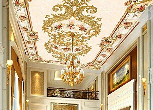 Preisvergleich Produktbild Chlwx Custom 3D Wallpaper Ultra-Reis-Roten Stein Im Europäischen Stil Decke Europäischen Teppiche, Gemälde Home Decor 350Cmx240Cm