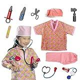 infantil juego de Rol Disfraz Set inclinada Fingir Disfraz Halloween y Assessories, 3-7 AÑOS - Enfermero, Talla única
