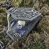Halloween Sarg mit Totenkopf und Knochen beleuchtet für Horror Gruft Deko Palandi®