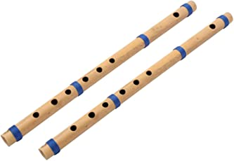 Surjan Singh & Sons Musical - Set Of 2 Flute Bamboo C Scale (Natural)