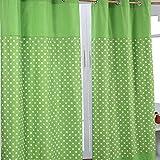 Homescapes Kindervorhang Junge Kinderzimmer Ösenvorhang Dekoschal Stars 2er Set grün 117 x 137 cm (Breite x Länge je Vorhang) 100% reine Baumwolle