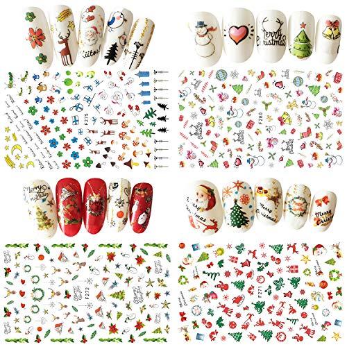 Größe Nagelsticker Nail Sticker Tattoo Kunstnägel Dekoration Nagelkleber bunte Nagelsticker fur Weihnachten