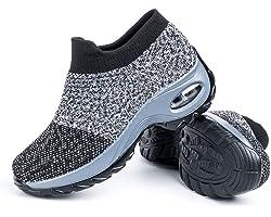 Scarpe Ginnastica Donna Sneakers Running Camminata Corsa Basse Tennis Air Traspiranti Sportive Gym Fitness Casual Comode Nero