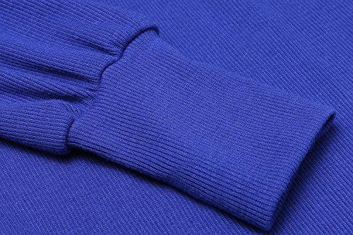 ZEARO Frauen Winter Kleider O-Ansatz lange Hülsen Normal Paket Hüfte Blouson Sexy Blau