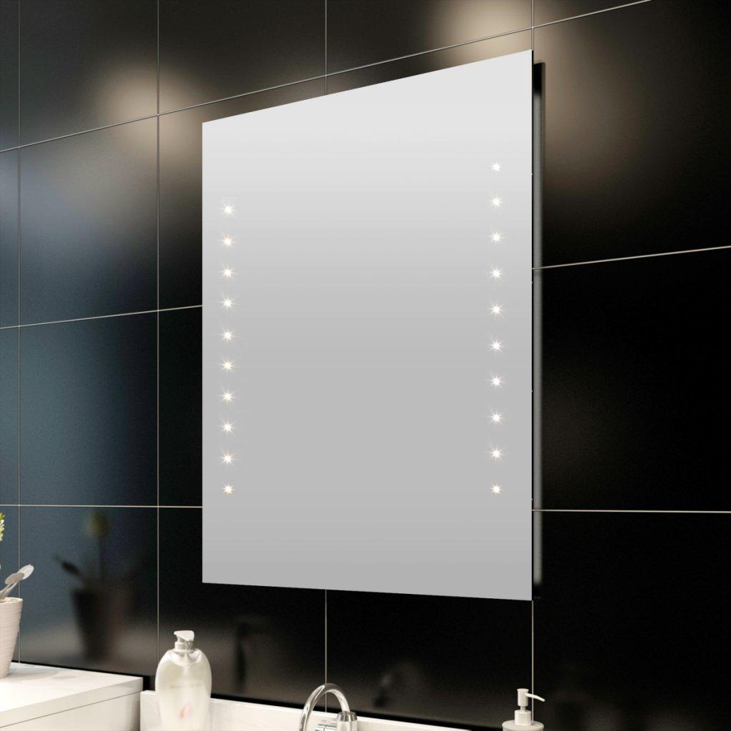 Miroir de salle de bain avec éclairage LED 100 x 60 cm(L x H ...